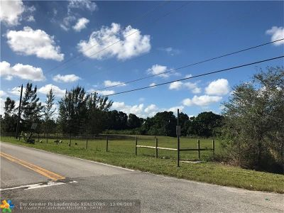 Southwest Ranches Residential Lots & Land For Sale: 6651 Hancock Rd