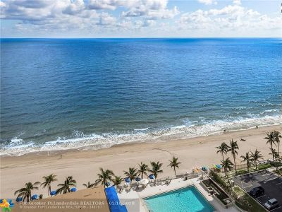 Fort Lauderdale Condo/Townhouse For Sale: 4300 N Ocean Blvd #PH E