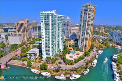 Fort Lauderdale Condo/Townhouse For Sale: 347 N New River Dr #2710