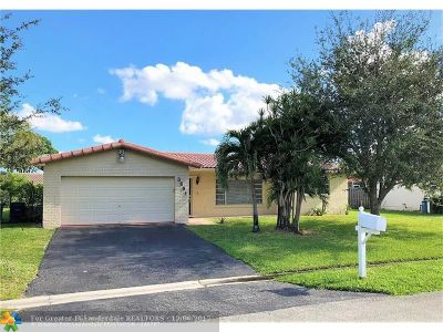 Coral Springs Single Family Home For Sale: 3691 NW 114th Ln