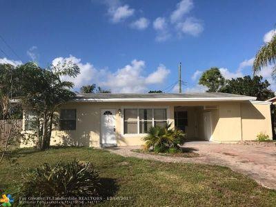 Pompano Beach Single Family Home For Sale: 2531 NE 10th Ave