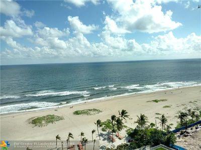 Pompano Beach Condo/Townhouse For Sale: 750 N Ocean Blvd #1606