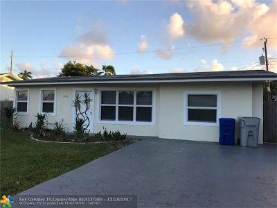 Pompano Beach Single Family Home For Sale: 1432 NE 29th St