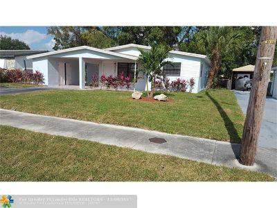 Lauderhill Single Family Home Backup Contract-Call LA: 3751 NW 9th Ct