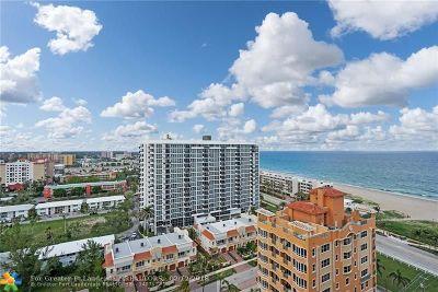 Pompano Beach Condo/Townhouse For Sale: 405 N Ocean Blvd #1711