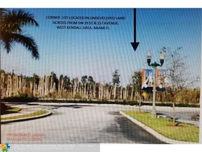 Miami Residential Lots & Land For Sale: SW 159 Ct.