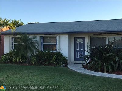 Sunrise Single Family Home For Sale: 11340 NW 37th St