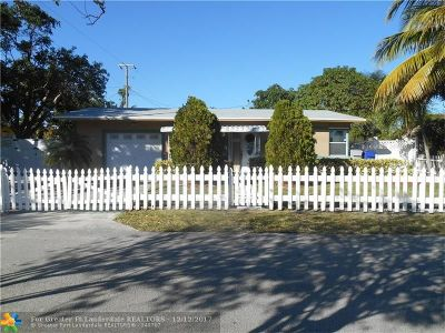 Pompano Beach Single Family Home For Sale: 1031 NE 23rd St