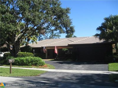 Plantation Single Family Home For Sale: 1520 SW 68th Ave