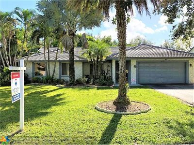 Coral Springs Single Family Home For Sale: 8872 NW 56th St