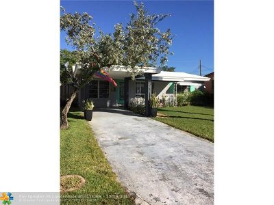 Broward County Single Family Home For Sale: 121 NW 47 St