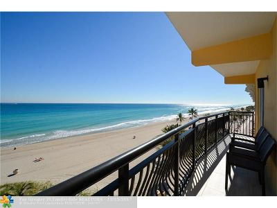 Broward County Condo/Townhouse For Sale: 1815 N Surf Rd #604