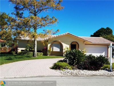Coral Springs Single Family Home For Sale: 8451 NW 26th Dr