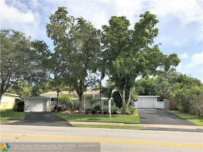 Wilton Manors Single Family Home For Sale: 109 NE 26th Street