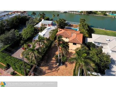 Miami Beach Single Family Home For Sale: 4838 Pine Tree Dr