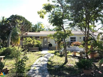 Wilton Manors Single Family Home For Sale: 302 NE 25th St