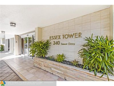 Fort Lauderdale Condo/Townhouse For Sale: 340 Sunset Dr #502