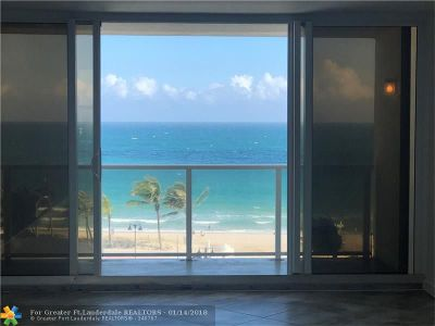 Fort Lauderdale Condo/Townhouse For Sale: 1200 N Fort Lauderdale Beach Blvd #604