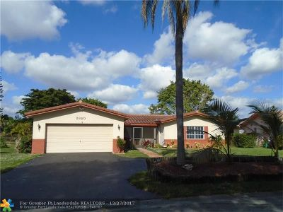 Coral Springs Single Family Home For Sale: 3920 NW 108th Dr