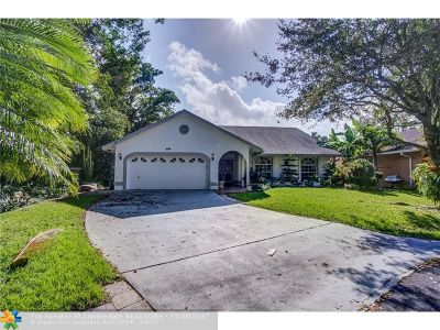Coconut Creek Single Family Home For Sale: 3702 NW 59th St