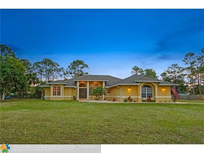 Loxahatchee Single Family Home Backup Contract-Call LA: 16394 E Goldcup Dr