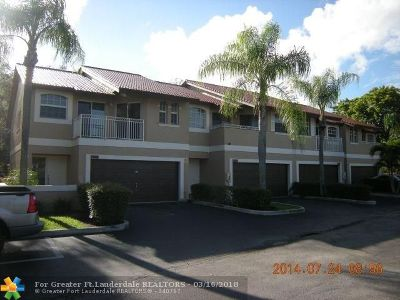 Coral Springs Condo/Townhouse For Sale: 4991 Riverside Dr #503