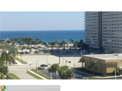 Pompano Beach Condo/Townhouse For Sale: 299 N Riverside Dr #807