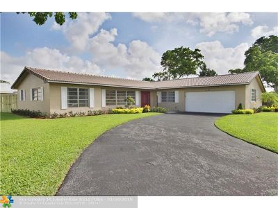 Coral Springs Single Family Home For Sale: 3955 NW 105th Ave