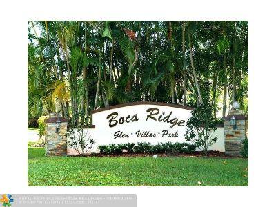 Boca Raton Condo/Townhouse Backup Contract-Call LA