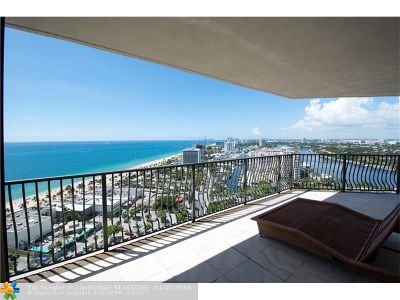 Fort Lauderdale Condo/Townhouse For Sale: 100 S Birch Rd #2401