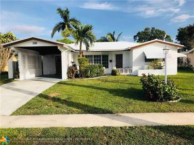 Lauderdale Lakes Single Family Home For Sale: 3381 NW 32nd St