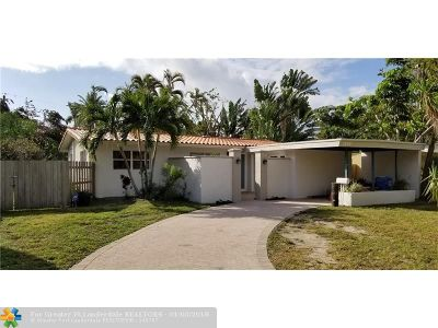 Oakland Park Single Family Home For Sale: 1568 NE 38th St