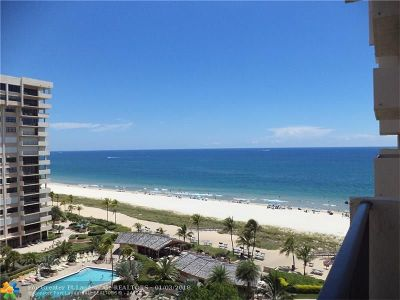 Lauderdale By The Sea Condo/Townhouse For Sale: 4900 N Ocean Blvd #1104