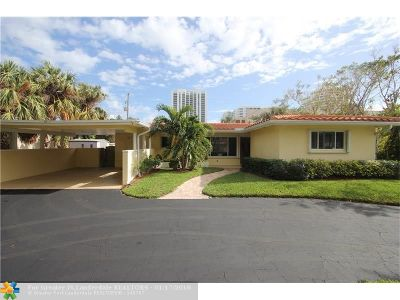 Lauderdale By The Sea Single Family Home For Sale: 1612 Bel Air Ave