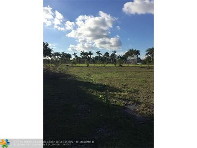 Southwest Ranches Residential Lots & Land For Sale: 18900 SW 57 Ct