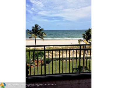 Pompano Beach Condo/Townhouse For Sale: 1750 S Ocean Blvd #408