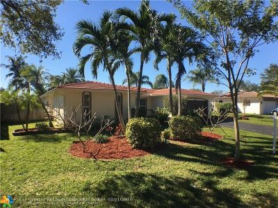 Coral Springs Single Family Home For Sale: 8592 NW 7th St