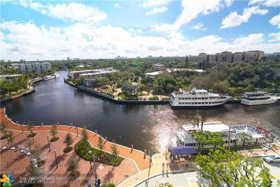 Fort Lauderdale Condo/Townhouse For Sale: 411 N New River Dr #901