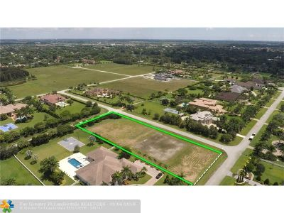 Southwest Ranches Residential Lots & Land For Sale: 16825 Berkshire Ct