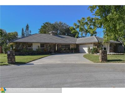 Coral Springs Single Family Home For Sale: 9875 NW 18th St