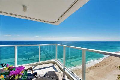 Pompano Beach Condo/Townhouse For Sale: 1360 S Ocean Blvd #2601