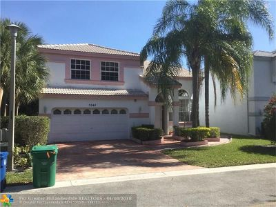 Coral Springs Single Family Home For Sale: 5544 NW 106th Dr