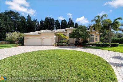 Davie Single Family Home For Sale: 3415 N Belmont Ter