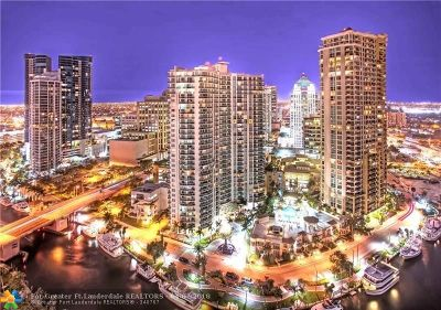 Fort Lauderdale Condo/Townhouse For Sale: 347 N New River Dr #1911