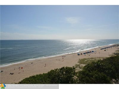 Pompano Beach Condo/Townhouse For Sale: 1610 N Ocean Blvd #702