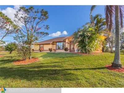 Loxahatchee Single Family Home For Sale: 19146 Bob Cat Ln