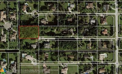 Plantation Residential Lots & Land For Sale: 00000 NW 19th St
