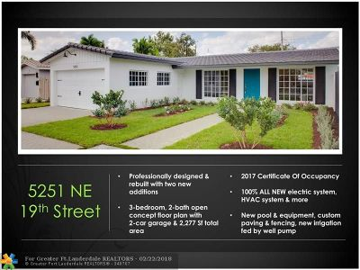 Fort Lauderdale Single Family Home For Sale: 5251 NE 19th Ave