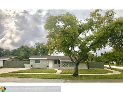Pembroke Pines Single Family Home Backup Contract-Call LA: 500 SW 69th Ter