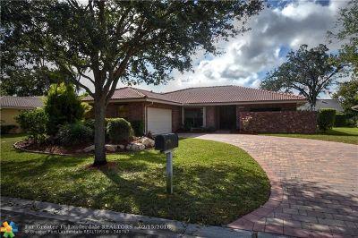 Coral Springs Single Family Home For Sale: 8486 NW 2nd Mnr